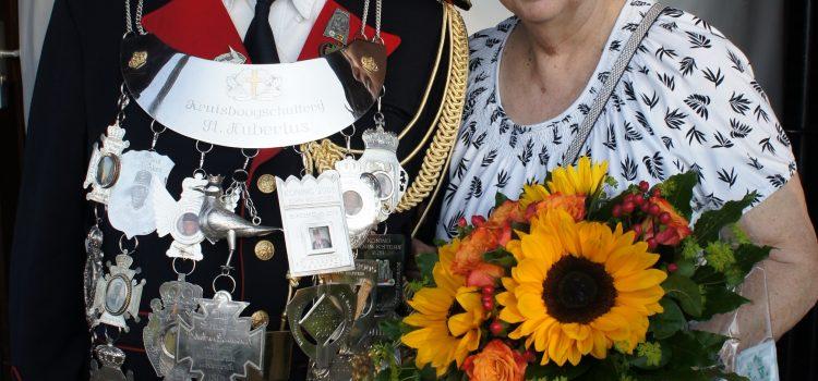 Piet Rouschen koning 2017  van Kruisboogschutterij St.Hubertus Haanrade