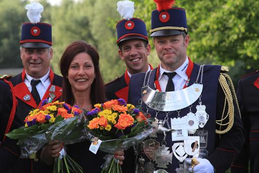 Koningschieten Bruisboogschutterij St. Hubertus Haanrade juni 2018